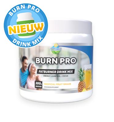 Burn Pro fatburner drink mix (300 gram) NIEUW!